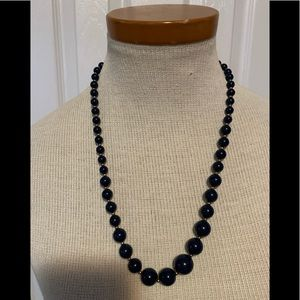Jewelry - ❤ 3 for $10 ❤Very dark blue bobble necklace